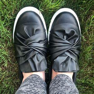 MIA Black slip on shoes